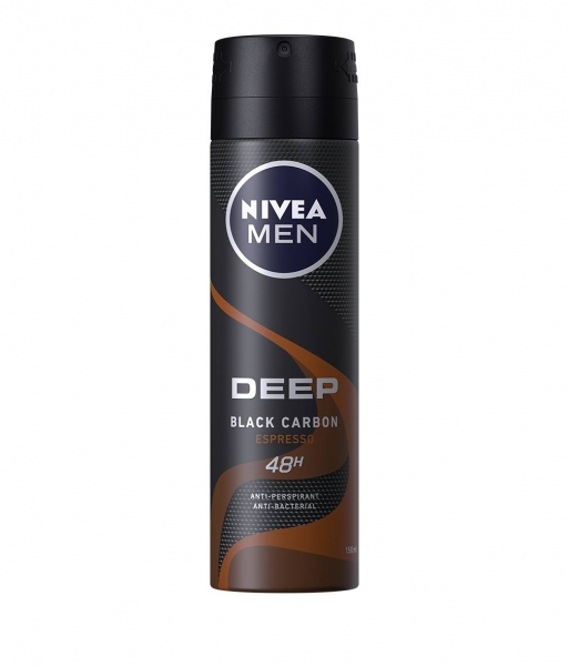 Nivea Deodorant spray, Barbati, 150 ml, Deep Black Carbon Espresso 0