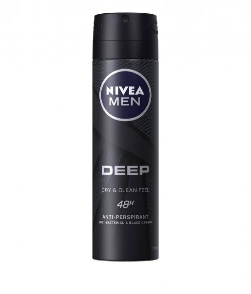 Nivea Deodorant spray, Barbati, 150 ml, Deep Dry and Clean Feel 0