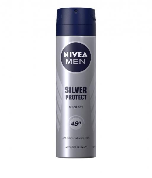 Nivea Deodorant spray, Barbati, 150 ml, Silver Protect 0