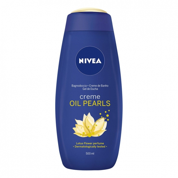 Nivea Gel de dus, 500 ml, Creme and Oil Pearls Lotus 0