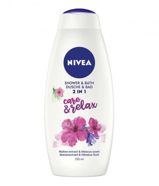 Nivea Gel de dus, 750 ml, 2in1 Care and Relax 0