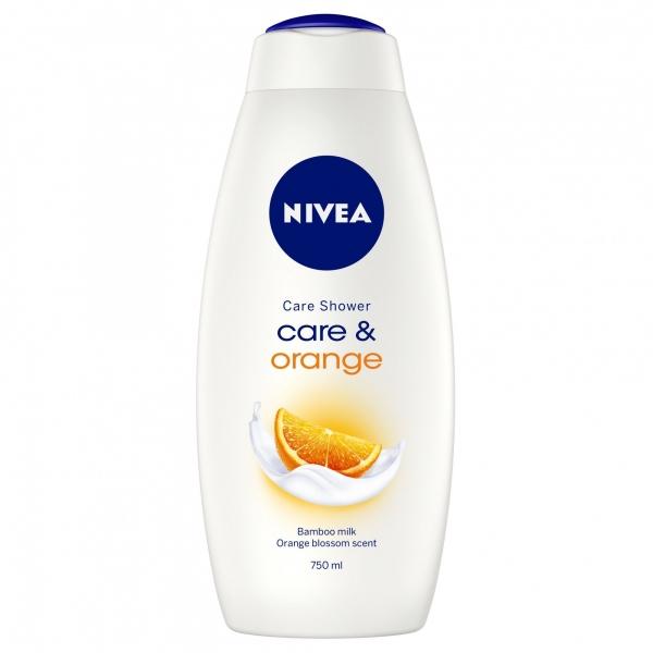 Nivea Gel de dus, 750 ml, Care and Orange 0
