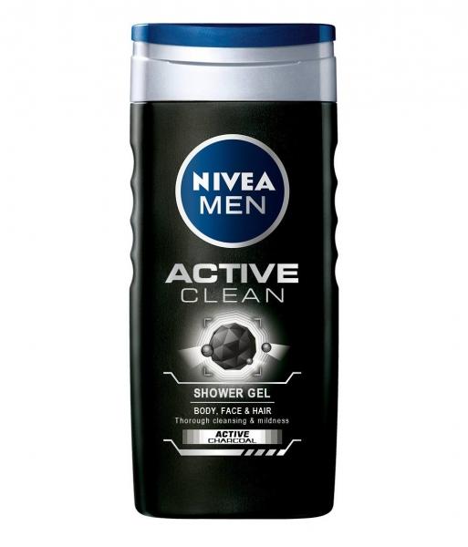 Nivea Gel de dus, Barbati, 250 ml, Active Clean 0