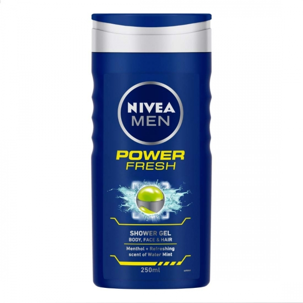 Nivea Gel de dus, Barbati, 250 ml, Power Fresh 0