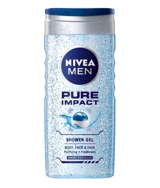 Nivea Gel de dus, Barbati, 250 ml, Pure Impact 0