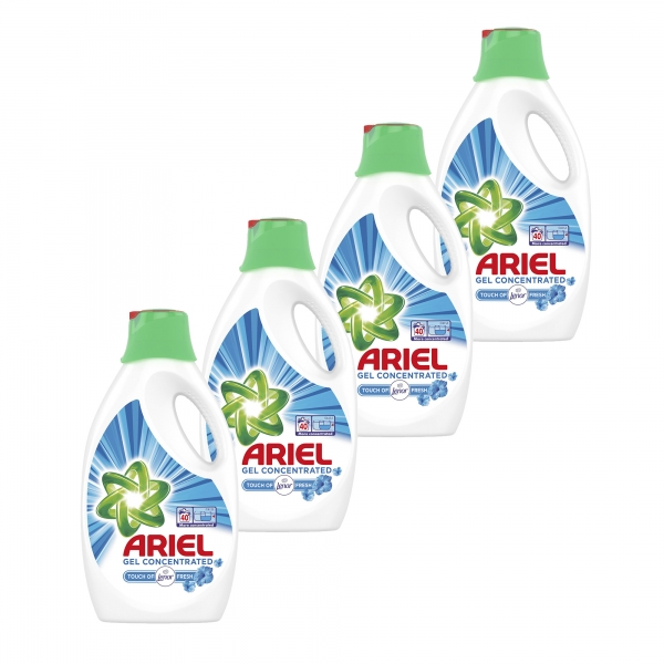 Pachet promo 4 x Ariel Detergent lichid, 2.2L, 40 spalari, Touch of Lenor Fresh 0