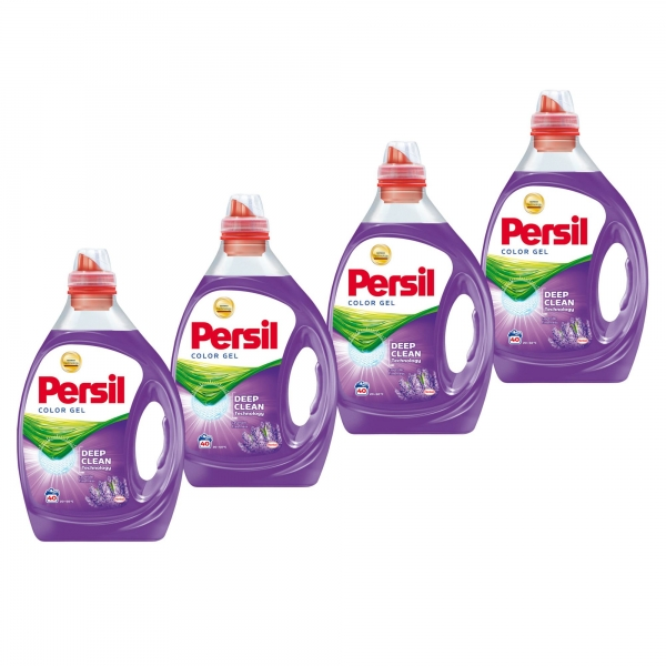 Pachet promo 4 x Persil Detergent lichid, 2L, 40 spalari, Color Gel Lavender 0