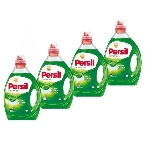 Pachet promo 4 x Persil Detergent lichid, 2L, 40 spalari, Power Gel 0