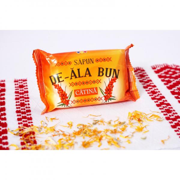 Sapun De-ala Bun, 90 g, cu extract de Catina 1