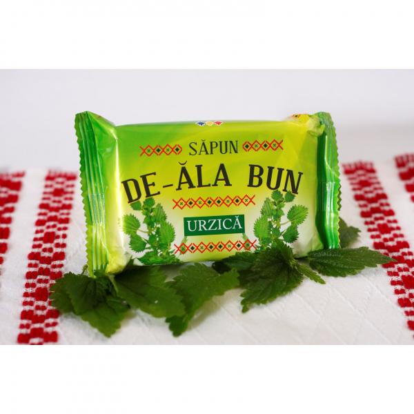 Sapun De-ala Bun, 90 g, cu extract de Urzica 1