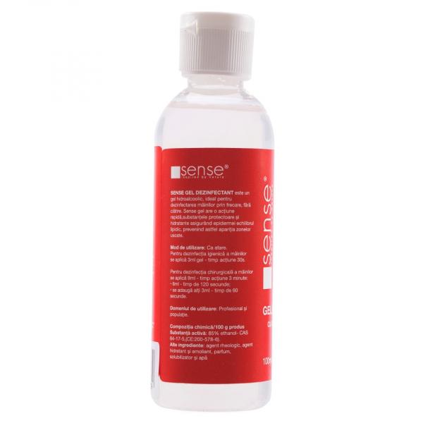 Sense Gel dezinfectant pentru maini, 85 percent alcool, 100 ml 1