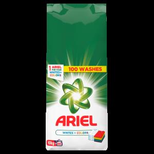 Ariel Detergent automat, 10 kg, 100 spalari, Whites & Colors0