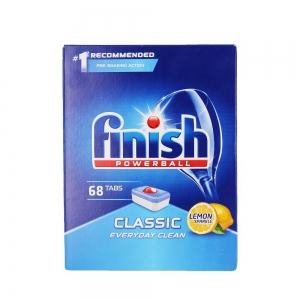Finish Tablete pentru masina de spalat vase, 68 buc, Classic Lemon0