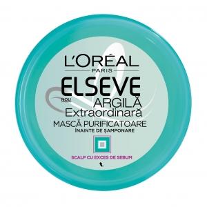 L'Oréal Elseve Masca de par pre-samponare, 150 ml, Argila Extraordinara, pentru scalp cu exces de sebum0