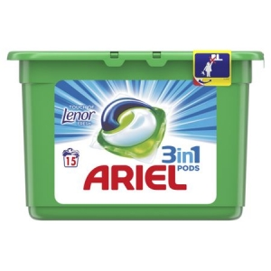 Ariel Detergent Capsule 3in1 PODS, 15 buc, Touch of Lenor Fresh0