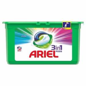 Ariel Detergent Capsule 3in1 PODS, 39 buc, Color0