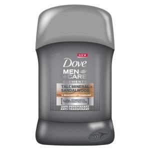 Dove Deodorant stick, Barbati, 50 ml, Men+Care Elements Talc Mineral + Sandalwood0