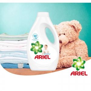 Pachet promo 4 x Ariel Detergent lichid, 2.2L, 40 spalari, Baby1