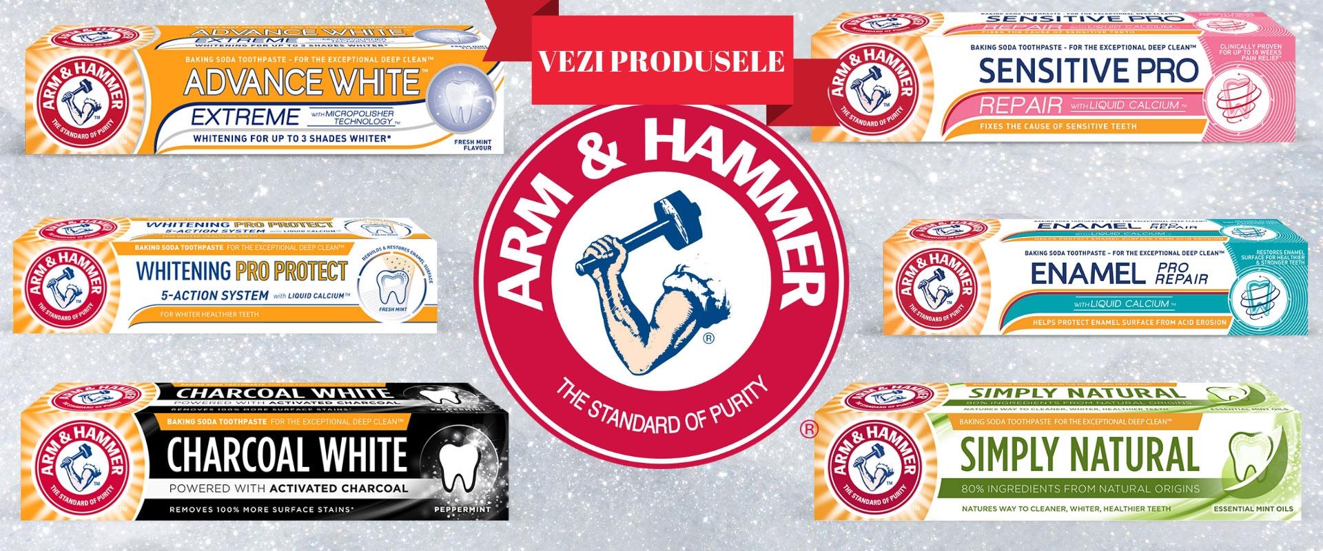 Descopera noua gama de pasta de dinti Arm & Hammer!