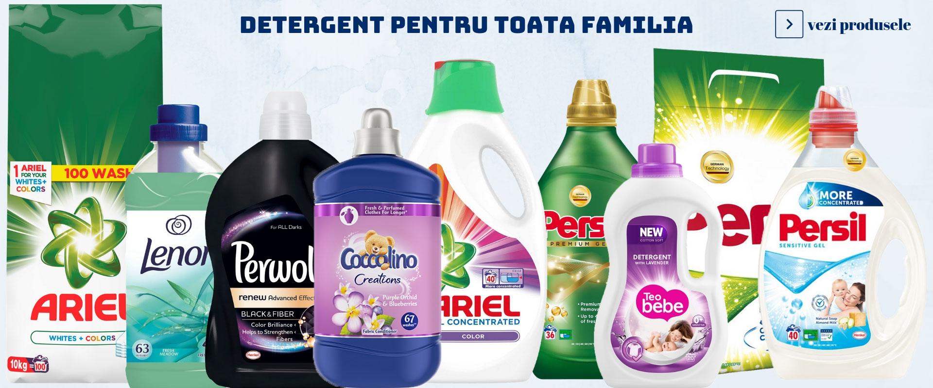 Ai super oferte la detergentul pentru rufe!