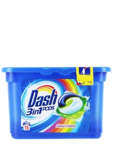 Dash Detergent capsule 3in1 PODS, 15 buc, Color