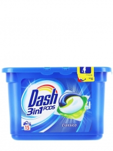 Dash Detergent capsule 3in1 PODS, 15 buc, Regular