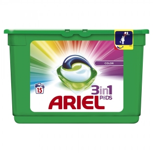 Ariel Detergent Capsule 3in1 PODS, 15 buc, Color