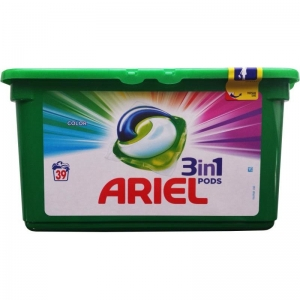 Ariel Detergent Capsule 3in1 PODS, 39 buc, Color