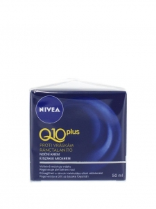 Nivea Crema de noapte, Antirid, 50 ml, Q10 Plus