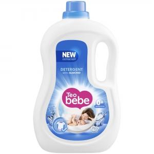 Teo Bebe Detergent lichid, 2.2 L, 40 spalari, Cotton Soft Almond