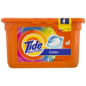 Tide Detergent capsule 3in1 PODS, 12 buc, Color