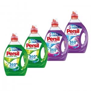 Pachet promo 4 x Persil Detergent lichid, 2L, 40 spalari, Power Gel & Color Gel Lavender