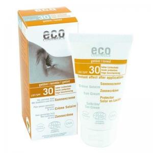 Crema bio protectie solara inalta FPS 30, nuantata - Eco Cosmetics