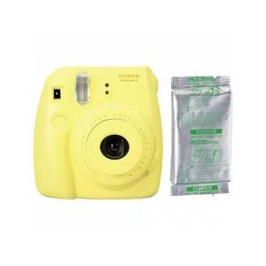 Fujifilm Instax Mini 8, Galben   Set hartie foto, 10 buc
