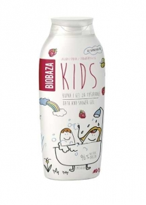 Gel de dus pentru copii cu aroma de smochine si capsuni, 250 ml - BIOBAZA