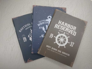 Notebook 24 file motive Navy Harbor Reserved