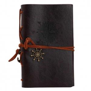 Notebook Vintage de calatorie cu coperta din Piele Ecologica Maro