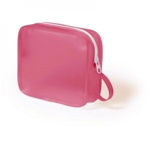Geanta cosmetice translucenta roz