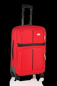Klept Troler textil 4 roti Smart-65 Rosu cu negru