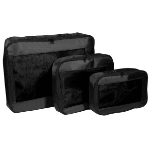 Packing Cubes - Set 3 genti bagaje - Negru