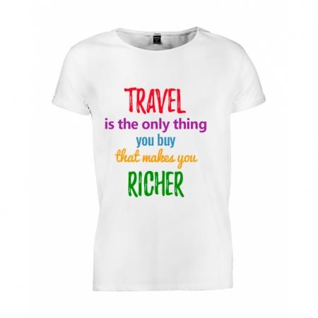 Tricou barbati Travel makes me richer