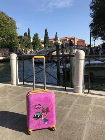 Troler 4 roti Travelite carcasa dura Eroii Orasului S - Roz