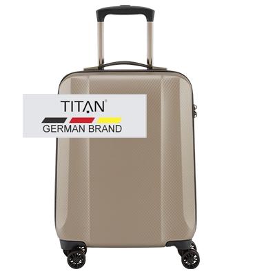 Troler TITAN XENON DELUXE 4 roti 55 cm Bej Champagne