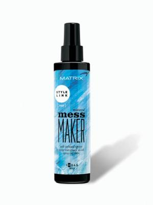 Spray texturizant cu apa de mare pentru coafura beach waves Matrix StyleLink Mess Maker, 200 ml