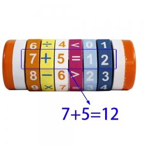Cilindru Cub din lemn Puzzle Aritmetic  Onshine5