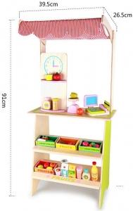Stand din lemn cu accesorii - Supermarket din lemn  copii3