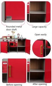 Bucatarie de lemn copii Dubla European Kitchen  cu accesorii5