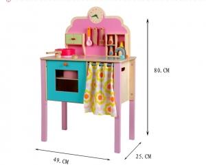 Bucatarie de jucarie de lemn Pink Kitchen1