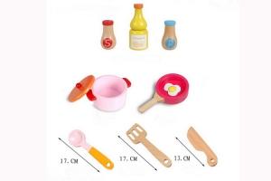 Bucatarie de jucarie de lemn Pink Kitchen2
