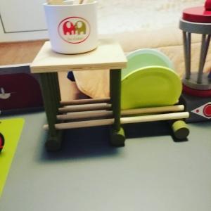 Bucatarie de lemn copii Dubla European Kitchen  cu accesorii15